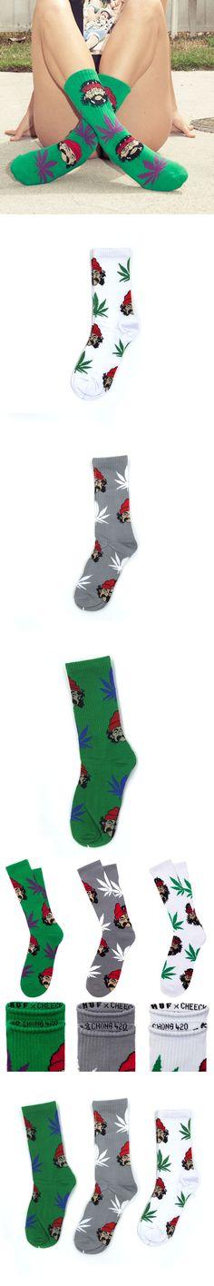 Men Women Comedy CHEECH & CHONG Portrait Weed Calcetines Pirate Cotton Sock Fashion Hiphop Skateboard Meias