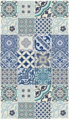 Eclectic Blue Delft Tile Style Large Floor Mat 28 by - Floor Mats - Ideas of Floor Mats floor patterns Tile Patterns, Textures Patterns, Floor Patterns, Tile Art, Wall Tiles, Porch Tile, Molduras Vintage, Tiles Texture, Floor Texture