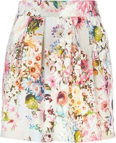 River Island Grey Floral Print Skirt
