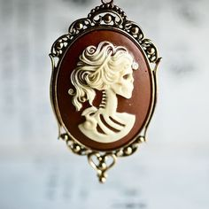Cameo skeleton necklace