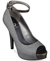G by GUESS Women's Valora Platform Ankle Strap Pumps