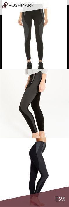 SPANX cropped athletic seamless legging - sz S NWOT, never worn. SPANX cropped athletic seamless legging. Black with white pattern. 88% nylon, 12% spandex. Very slimming. SPANX Pants Leggings