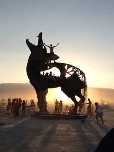 Burning man. Playa sculpture, photographed on August 30, 2013. By Bexx Brown-Spinelli.  Symbiosis had this!