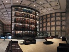 Connecticut: Yale University's Beinecke Rare Book and Manuscript Library, located in New Haven, features a sunken sculpture garden and translucent marble windows.