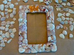 seashell frame by mermaid ella
