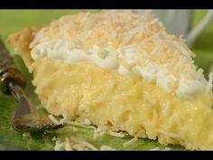 Coconut cream pie  http://www.joyofbaking.com/CoconutCreamPieRecipe.html