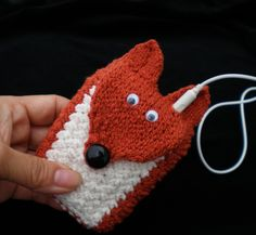 Sly Fox Knit Cuff / Case / Cozy (for MP3, iPods, Cell Phones, ID, etc.). $26,00, via Etsy.