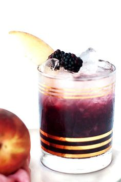 Peach and Blackberry Bramble