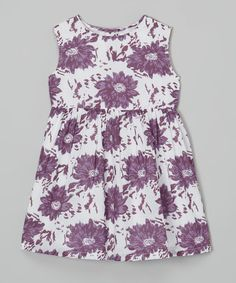 This Purple Floral A-Line Dress - Infant, Toddler & Girls by Rim Zim Kids is perfect! #zulilyfinds