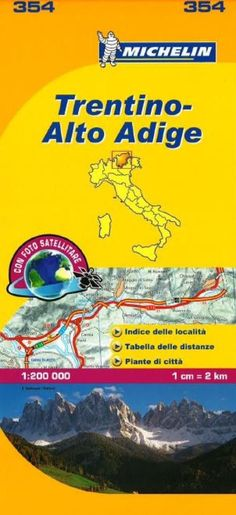 Trentino Alto Adige, Italy (354) by Michelin Maps and Guides