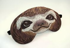 Sloth Sleep Mask by appendageaccessories on Etsy, $20.00. OMG. This is awesome.