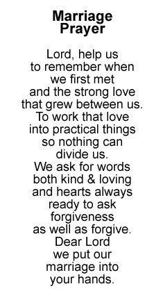 Marriage Prayer... love