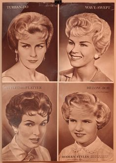 Lot of Three Vintage Hair Salon Posters 16x22 by OldBookSmell, $8.00