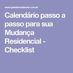 Calendário passo a passo para sua Mudança Residencial - Checklist