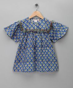Take a look at this Blue Hand-Block Top - Toddler & Girls on zulily today!