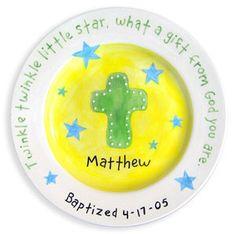 Baptism plate