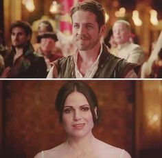 Awesome Regina and Robin (Lana and Sean) at the awesome Camelot ball in the awesome Once S5 E2 #ThePrice aired Sunday 10-4-15