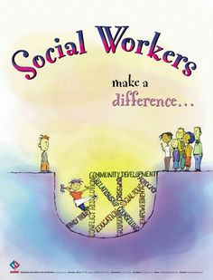 "Social Workers make a difference. In honor of March being National Professional Social Workers month, we would love to say a huge ""Thank You"" to all the dedicated social workers making a difference in our children's lives! You do so much and ask for so little. Keep up the great work."