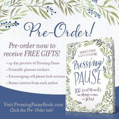 Pre-Order Pressing Pause and receive FREE gifts!
