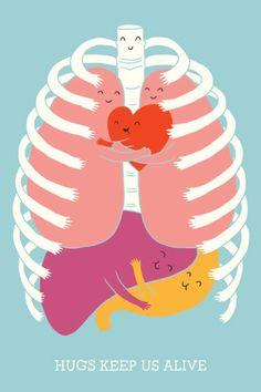 hugs for health. hug someone. hug yourself.