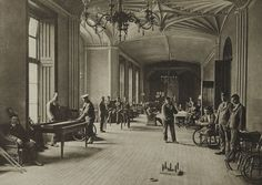 Recreation Room	  Annan, James Craig, b.1864–1946  The Princess Louise Scottish Hospital for Limbless Sailors & Soldiers at Erskine House , 1917  12.8 x 17.8 cm
