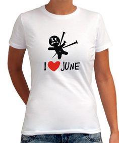 I Love June - Voodoo Doll Women T-Shirts
