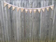Handmade buntings made to order. 'Just married' $25 each