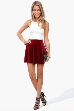 #Necessary Clothing       #Skirt                    #Velvet #Skater #Skirt #Wine                        Velvet Skater Skirt in Wine                                                   http://www.seapai.com/product.aspx?PID=41995