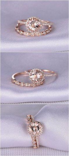 Morganite Engagement ring / http://www.himisspuff.com/engagement-rings-wedding-rings/6/ #morganiteengagementring #weddingring