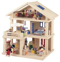 Dollhouse with moveable partitions