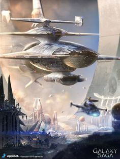 Artist: James Chung - Title: Galaxy Saga Ship - Card: Unknown