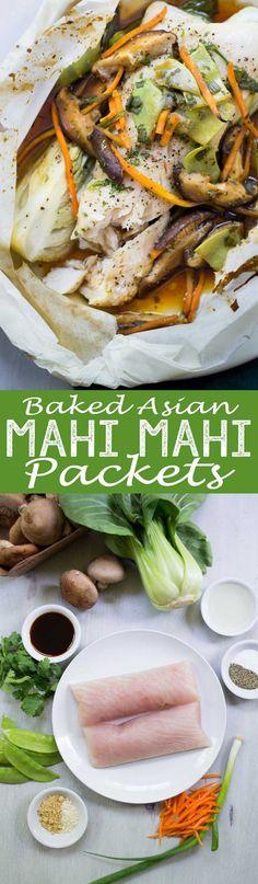 Baked Asian Mahi Mahi Packets - Eazy Peazy Mealz