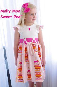 Super cute  Molly Moo spring summer sweet pea dress! https://www.facebook.com/mollymoobowtique