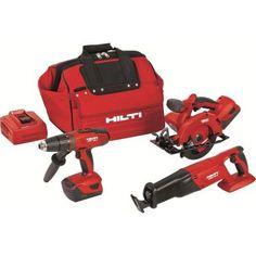 Hilti 18-Volt Lithium-Ion Cordless Hammer Drill Driver/Reciprocating Saw/Circular Saw Combo Kit (3-Tool) $1,004.88 #ShopSale