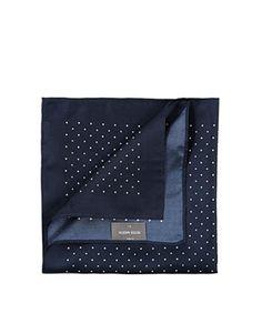 ASOS NavyPeter Werth Pocket Square In Polka Dot £18 (405595)