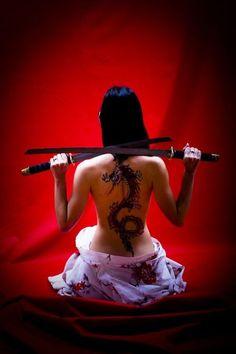 tattoo and katana