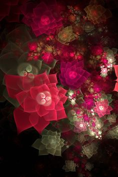 3D Fractal collage art