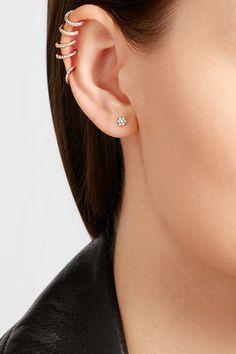 Fermoir vis pour oreilles percées   Cette pièce a été certifiée conforme à la loi britannique de 1973 concernant le poinçonnage des métaux précieux  NET-A-PORTER.COM est une société certifiée membre du Responsible Jewellery Council, conseil pour une joaillerie responsable