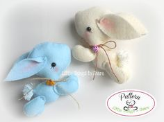 Bunny PDF sewing pattern-DIY Project-Easter Bunny-Nursery