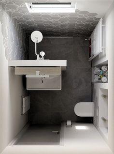 Small Bathroom Shower Ideas Remodel Ideas For 2020 Tiny House Bathroom, White Vanity Bathroom, Vintage Bathroom Decor, Modern Bathroom, Bathrooms Remodel, Bathroom Makeover, Small Bathroom Layout, Bathroom Design Small, Bathroom Renovations
