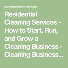 house cleaning businesses