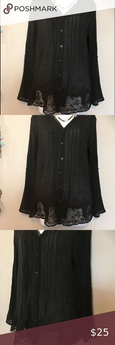 Zac /& Rachel NEW WT Black Purple Blouse Floral Fully Pleated Top size S,M,L,XL
