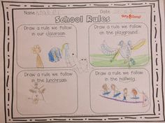 School Rules - First Week of School Activities