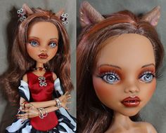OOAK custom 17 double jointed monster doll repaint with by Dirili