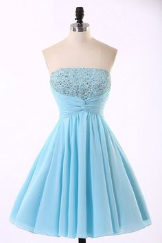 Short Prom Dresses, Prom dresses Sale, Prom Dresses Blue, #bluepromdresses, Light Blue Prom Dresses, Chiffon Prom Dresses, #shortpromdresses, Knee Length Prom Dresses, Prom Dresses Short, Hot Prom Dresses, Short Blue Prom Dresses, Blue Prom Dresses