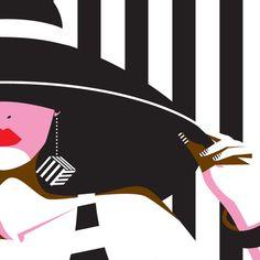 cap it – Yordanka Poleganova Pop Art Illustration, People Illustration, Fashion Terminology, Fashion Vector, Independent Girls, Ana White, Black And White, Arte Pop, Minimalist Poster
