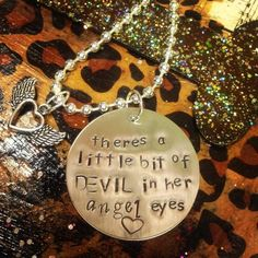 Angel eyes - hand stamped jewelry by Cowgirlz Candy