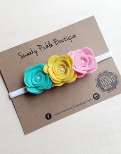 Diadema flor fieltro rosa fieltro diadema por SwankyPickleBoutique