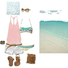 beach, created by raannero on Polyvore by jsmith78