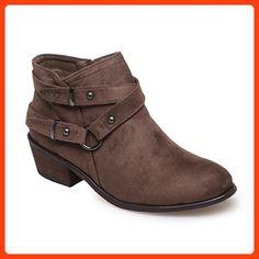 La Modeuse, Damen Stiefel   Stiefeletten , braun - taupe - Größe  39 EU 2b975cc2d9
